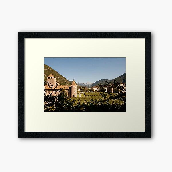 Castle Mareccio Vineyard, Bolzano/Bozen, Italy Framed Art Print