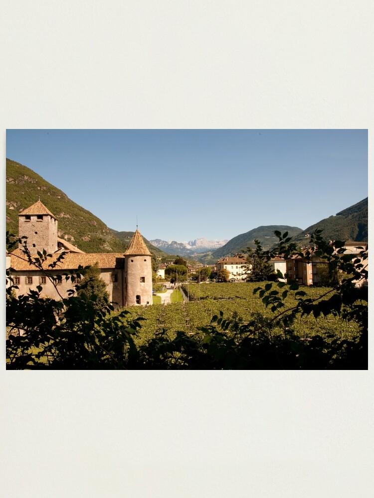 Alternate view of Castle Mareccio Vineyard, Bolzano/Bozen, Italy Photographic Print