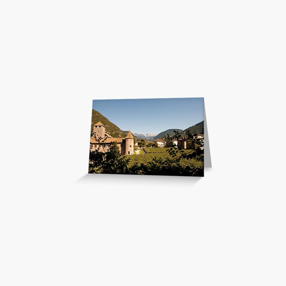 Castle Mareccio Vineyard, Bolzano/Bozen, Italy Greeting Card