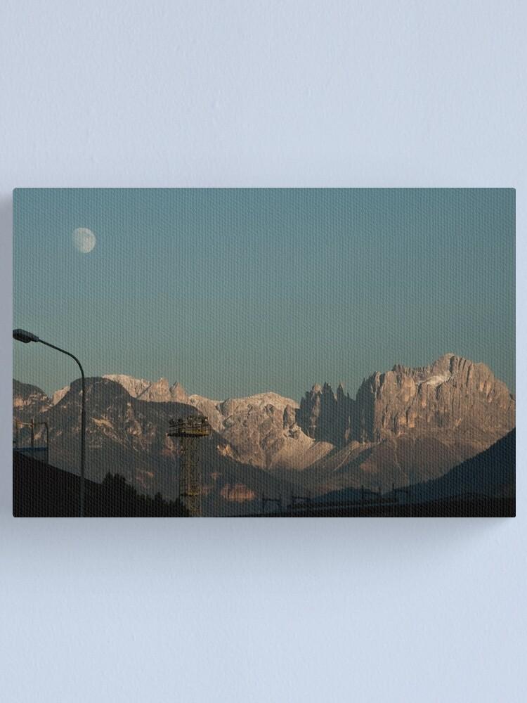 Alternate view of Moon over the Dolomites, Bolzano/Bozen, Italy Canvas Print