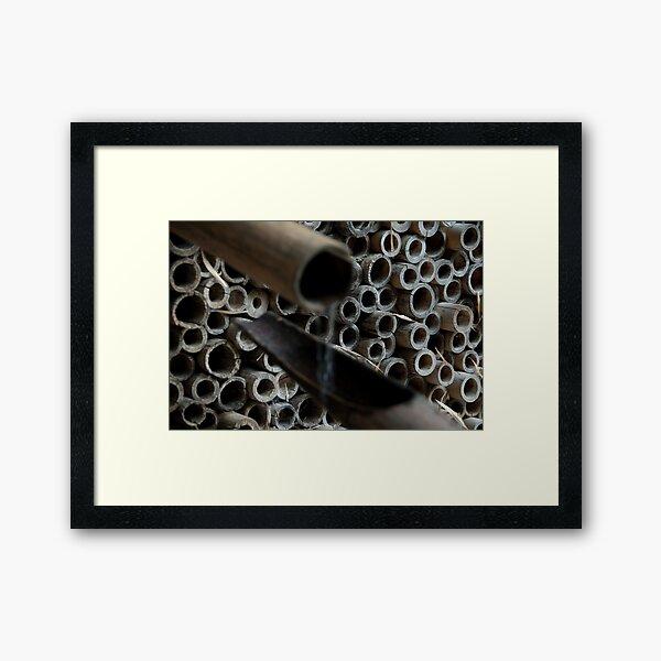 Bamboo Waterfall, Japanese Garden, Castle Trauttmansdorff, Italy Framed Art Print