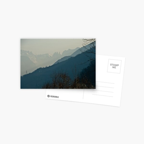 Dolomites and foreground hills, view from Bolzano/Bozen, Italy Postcard