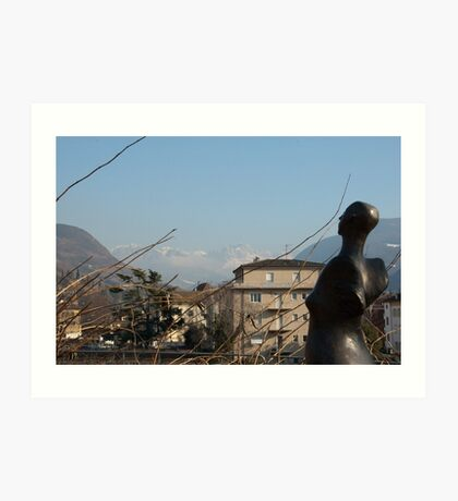 Dolomites and the Angel, View from Bolzano Art Print