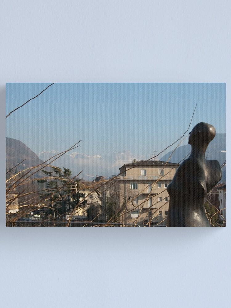 Alternate view of Dolomites and the Angel, View from Bolzano Canvas Print