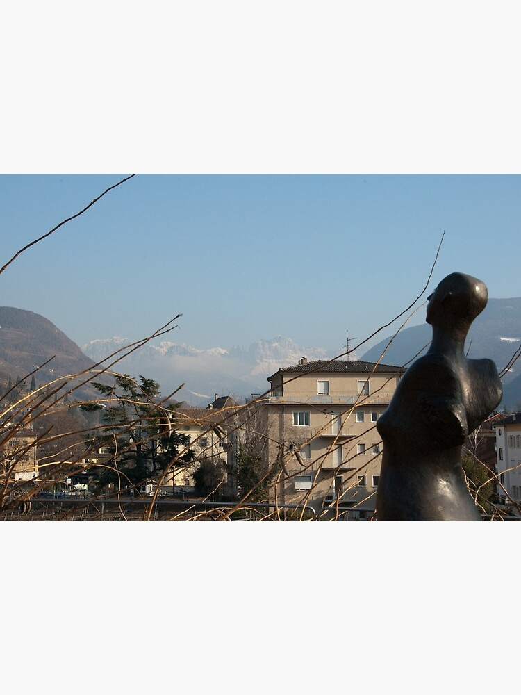Dolomites and the Angel, View from Bolzano by leemcintyre