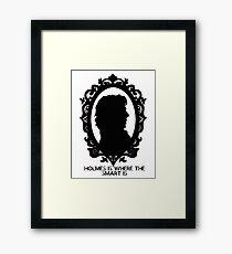 BBC Sherlock Holmes Cameo Framed Print