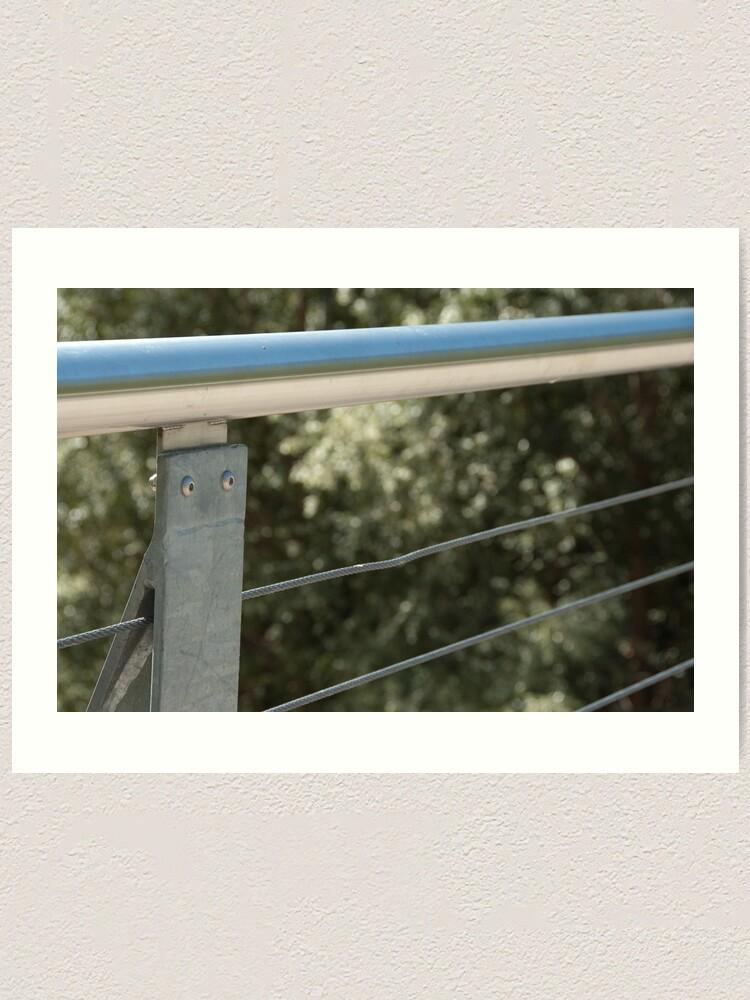 Alternate view of Face on a Fence Post, Bolzano/Bozen, Italy Art Print