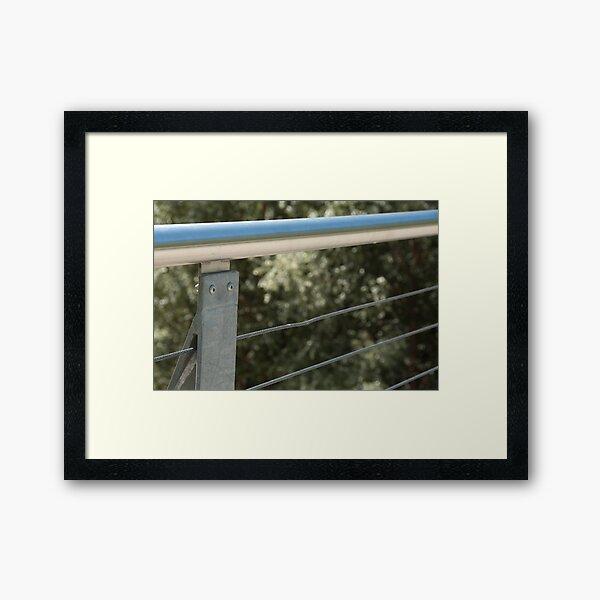 Face on a Fence Post, Bolzano/Bozen, Italy Framed Art Print