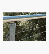 Face on a Fence Post, Bolzano/Bozen, Italy Photographic Print