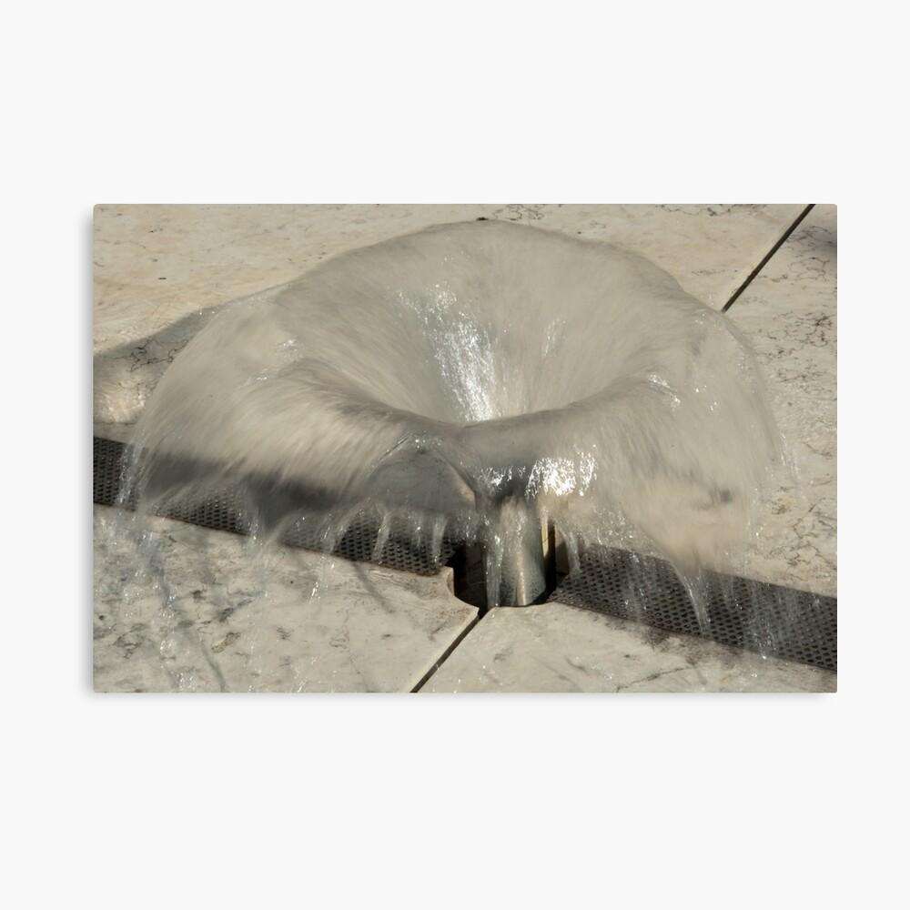 Sprinkler Fountain, EURAC plaza, Bolzano/Bozen, Italy Canvas Print