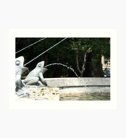 Frog Fountain, Bolzano/Bozen, Italy Art Print