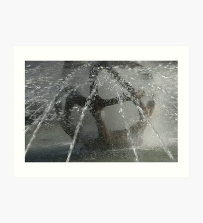 Fountain, Piazza Tribunale, Bolzano/Bozen Art Print