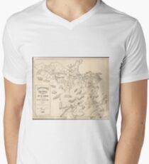 Vintage Map of Rio de Janeiro Brazil (1896) Men's V-Neck T-Shirt