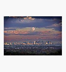 Full Moon Over New York, USA Photographic Print
