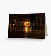 Near the Rialto Bridge, Venice, Italy Greeting Card
