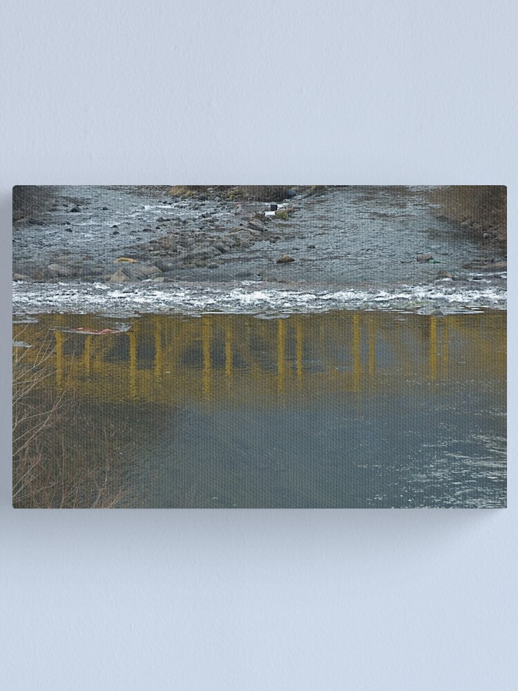 Alternate view of Bridge on the Talvera River, Bolzano/Bozen, Italy Canvas Print