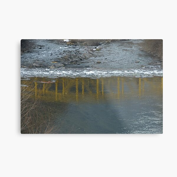 Bridge on the Talvera River, Bolzano/Bozen, Italy Metal Print