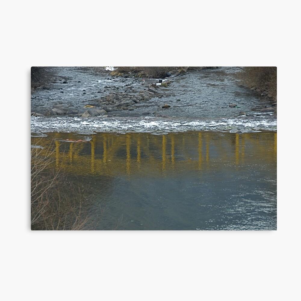 Bridge on the Talvera River, Bolzano/Bozen, Italy Canvas Print