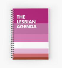 Lesbian Agenda Spiral Notebook
