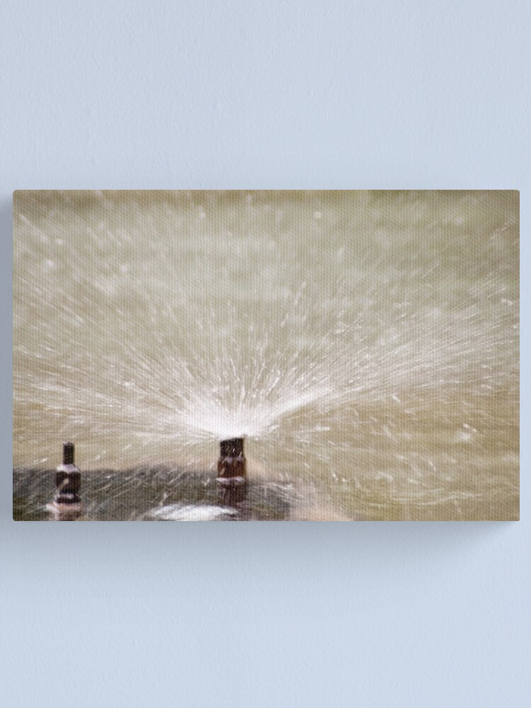 Alternate view of Sprinkler Spray, Vancouver, British Columbia Canvas Print