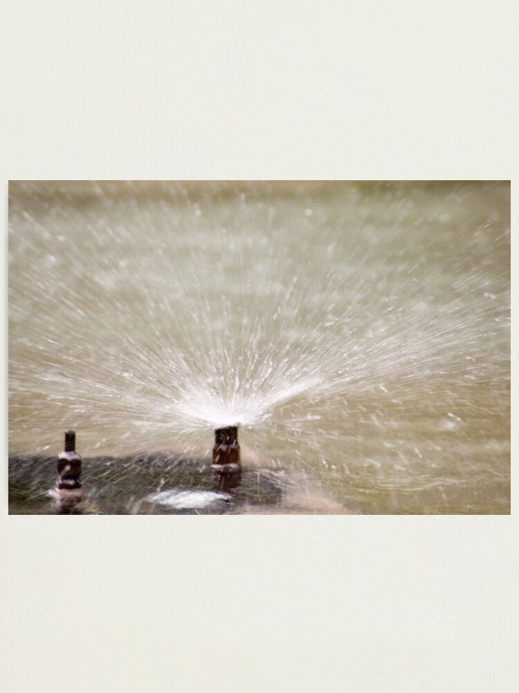 Alternate view of Sprinkler Spray, Vancouver, British Columbia Photographic Print