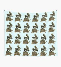 A Turtle Transporting Topiary Wall Tapestry