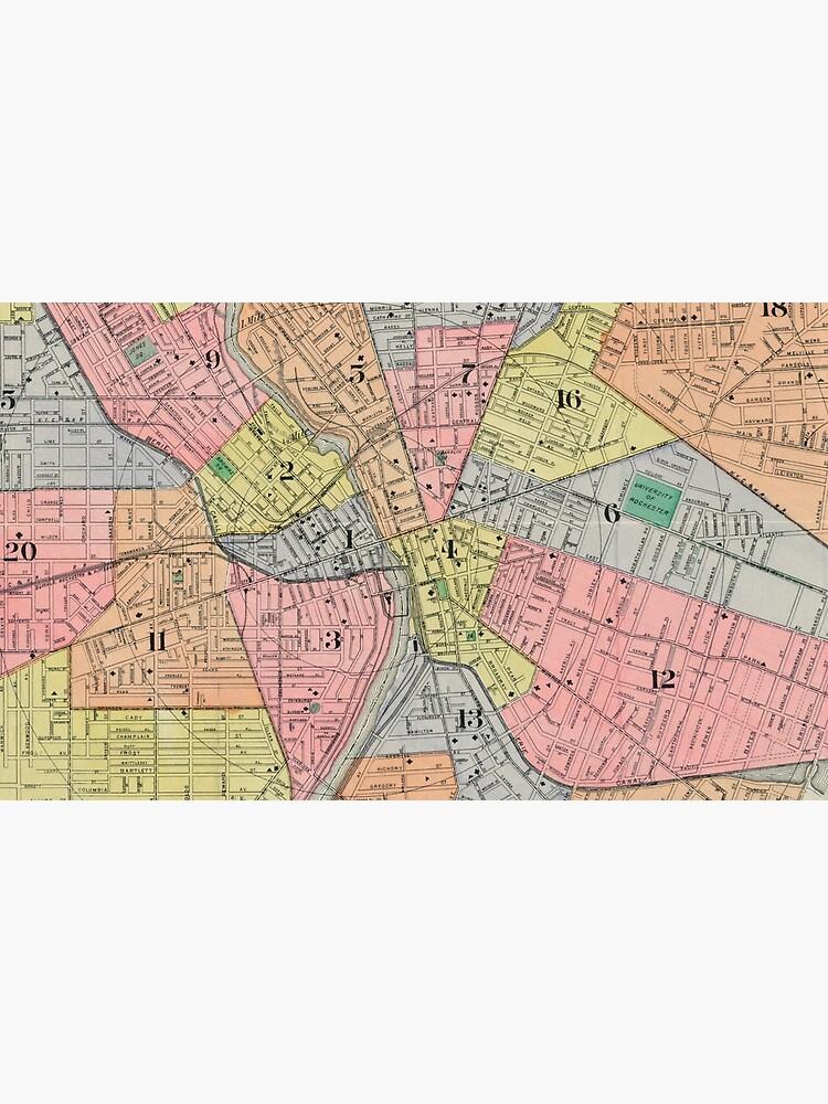 Vintage Karte von Rochester NY (1901) von BravuraMedia