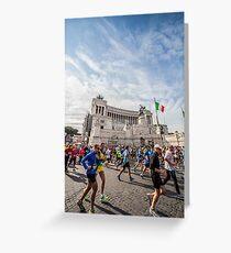 Marathon in Piazza Venezia Greeting Card