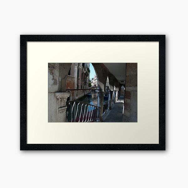 Venice Archways, Italy Framed Art Print