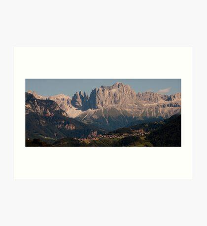 Dolomites, as viewed from Bolzano/Bozen, Italy Art Print