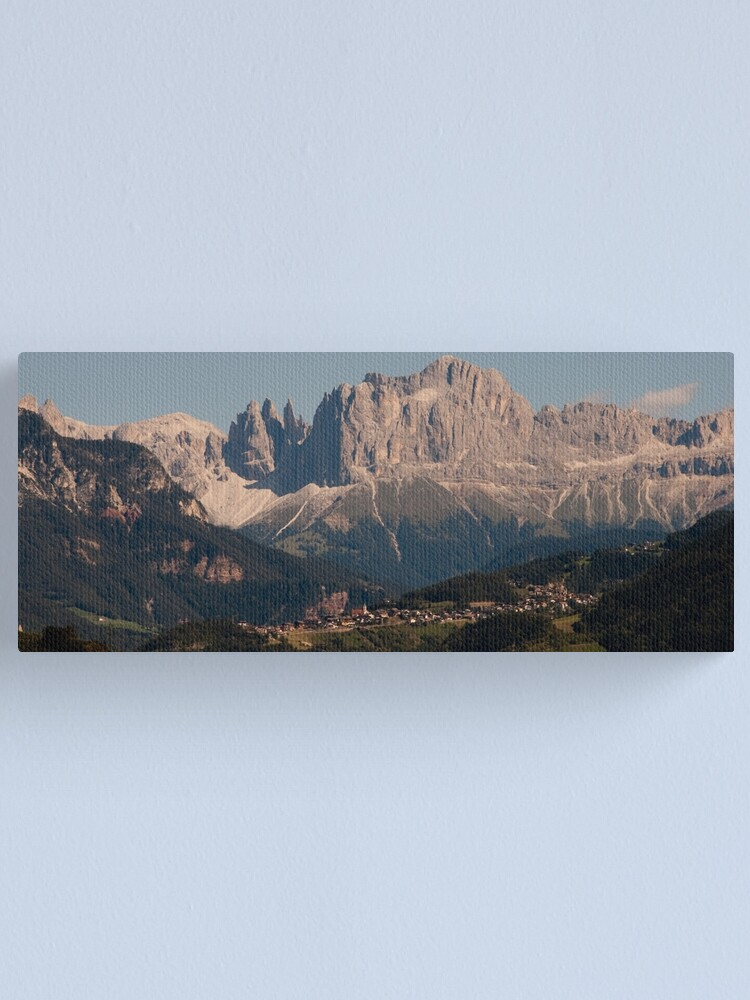 Alternate view of Dolomites, as viewed from Bolzano/Bozen, Italy Canvas Print