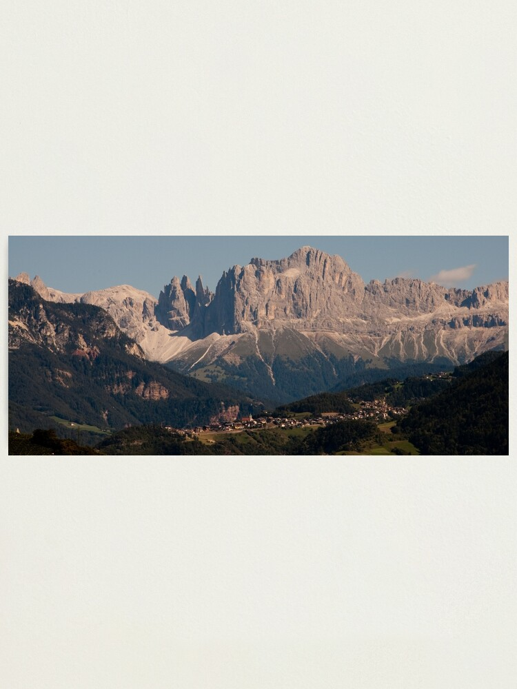 Alternate view of Dolomites, as viewed from Bolzano/Bozen, Italy Photographic Print
