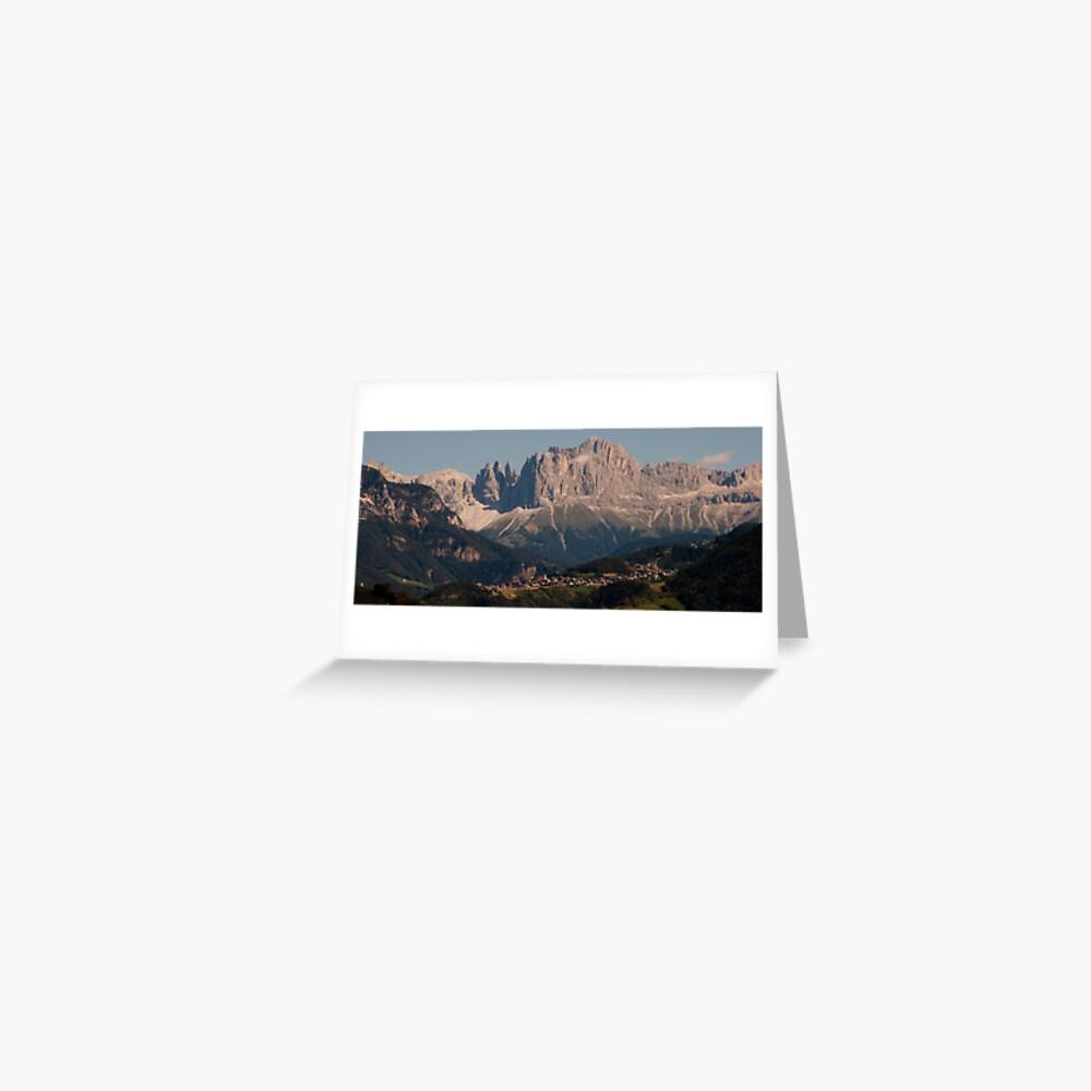 Dolomites, as viewed from Bolzano/Bozen, Italy Greeting Card