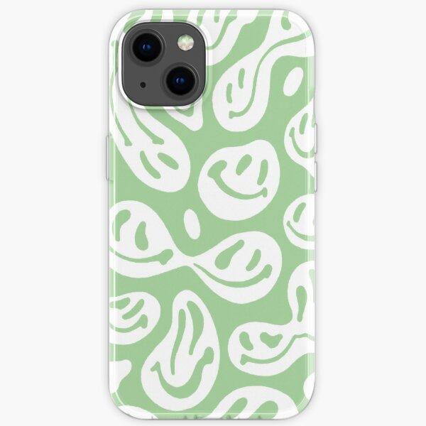 liquid smiley faces phone case sage iPhone Soft Case