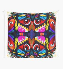 Bird Ornament Wall Tapestry