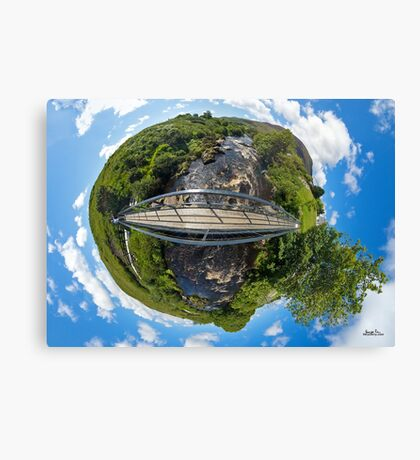 Footbridge over Glen River, Carrick, SW Donegal Canvas Print