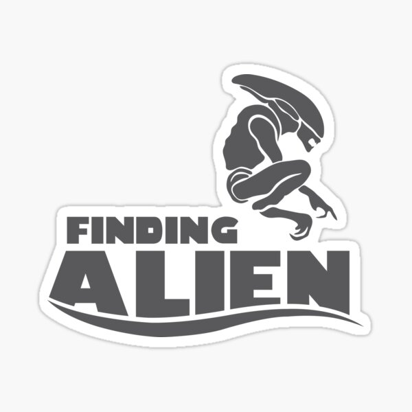 Finding Alien (Finding Dory inspired horror) Sticker