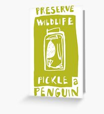 Pickle a Penguin Greeting Card
