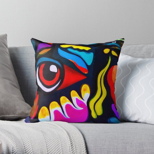 Bird Ornament Throw Pillow