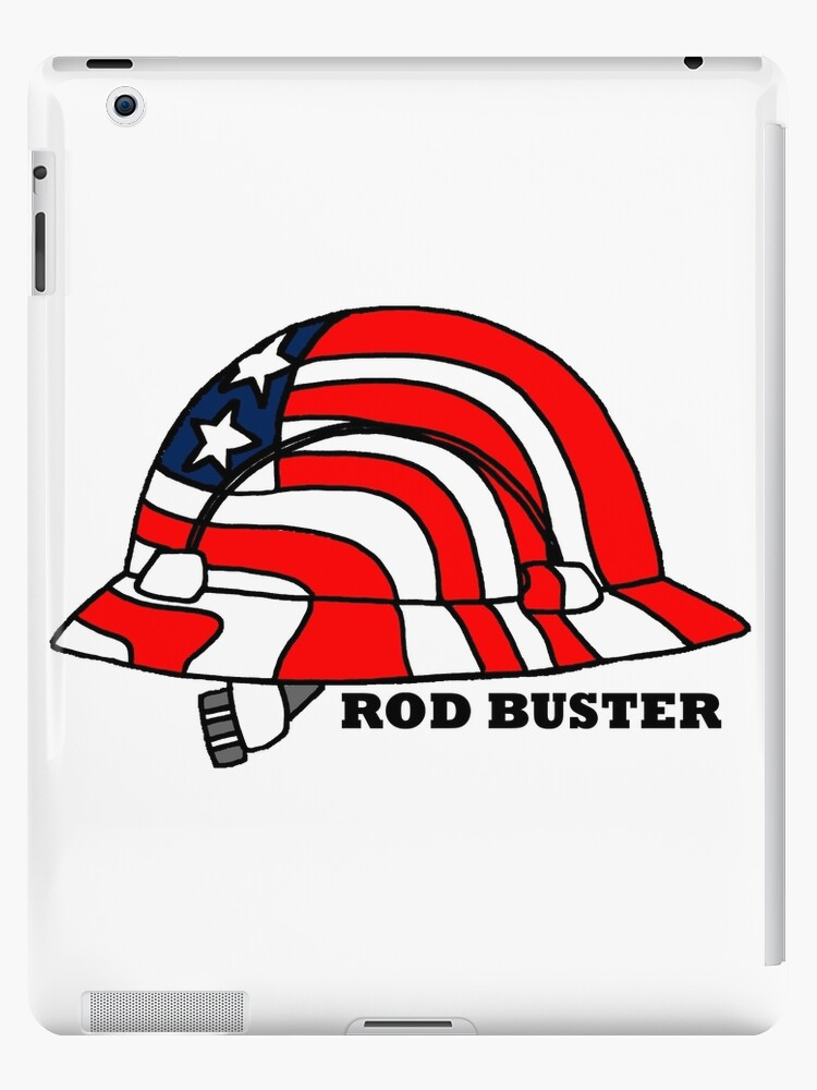 'Rod Buster Rebar Hard Hat' iPad Case/Skin by Statepallets