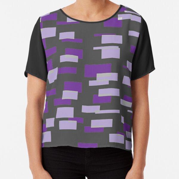 Gray & 2 Shades of Purple Chiffon Top