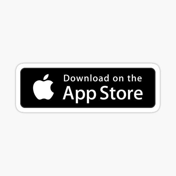 Download on the App Store Button Sticker