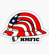 HMFIC Construction Hard Hat America Sticker
