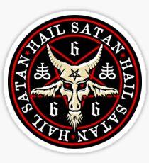 Pegatina Granizo oculto Satan Baphomet en Pentagram