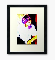 Lady in White: Graphic Framed Print