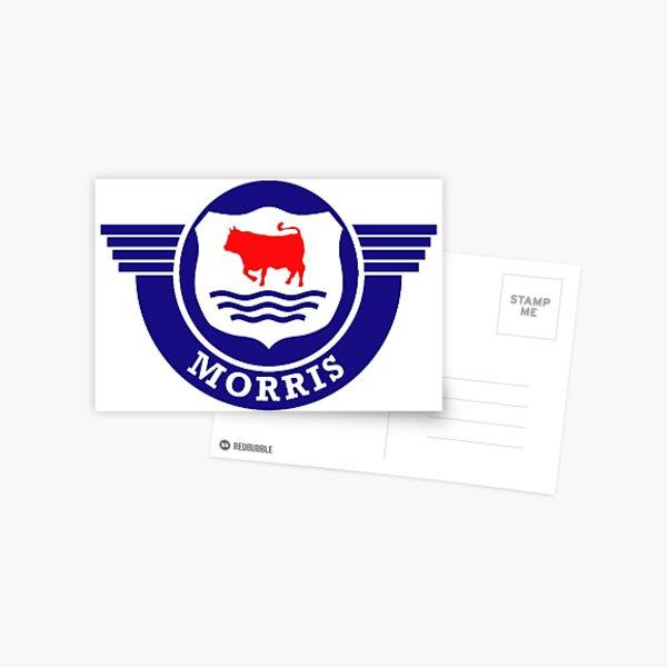 The Mighty Morris Cars Logo Postcard