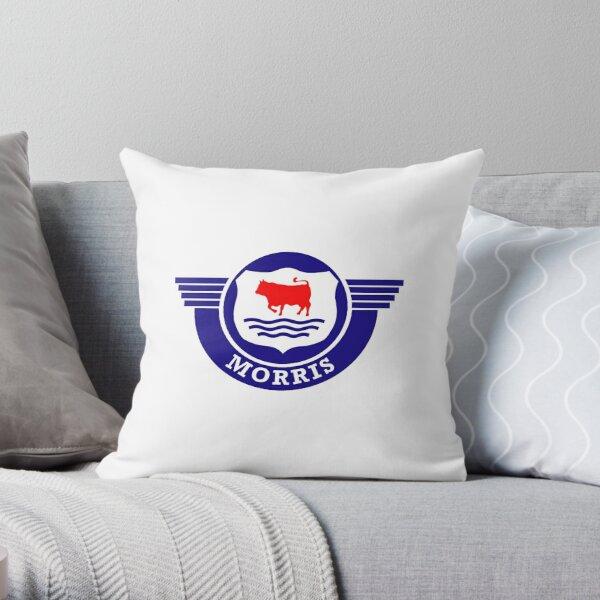 The Mighty Morris Cars Logo Throw Pillow
