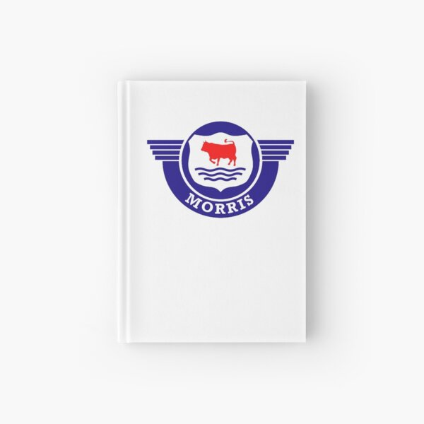 The Mighty Morris Cars Logo Hardcover Journal