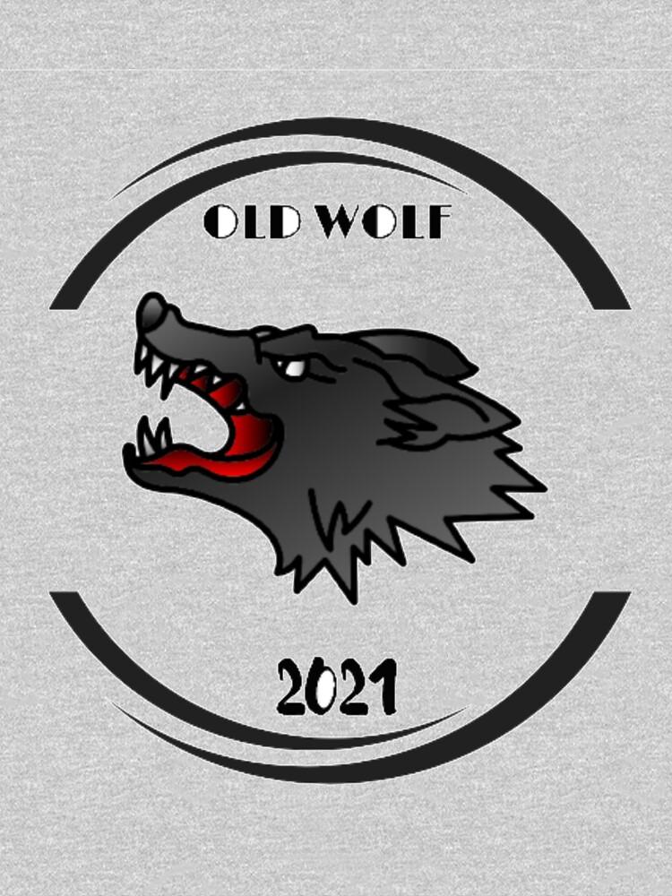 natural art wild old wolf - cartoon illustration by Marouane21
