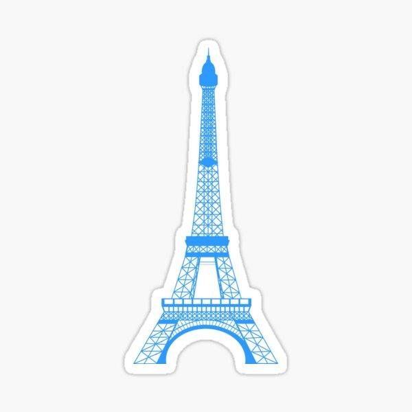 Teal Blue Eiffel Tower Sticker